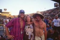 Deadheads with an unidentified crew member, summer 1993