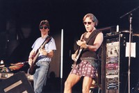 "Grateful Dead: Phil Lesh and Bob Weir performing ""Take Me to the River"""