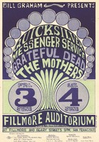 Quicksilver Messenger Service, Grateful Dead, The Mothers. June 3-4, 1966, Fillmore Auditorium