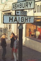 Haight and Ashbury Streets streetsign: photograph