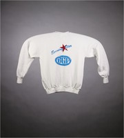 "Sweatshirt: ""Grateful Dead / Compton Terrace / Arizona / 8 & 9 Dec 1990"" - stealie. Back: ""Evening Star / BGP"""