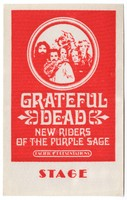 Grateful Dead - New Riders of the Purple Sage - Pacific Presentations - Stage - [October 26-27, 1971] [backstage pass]