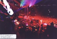 Grateful Dead: view from above and behind the stage