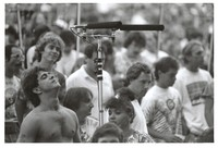 Deadhead with microphone set-up in the Taper's section