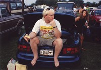 "Deadheads with vehicle with ""GFDEAD 1"" Illinois license plate, ca. 1990"