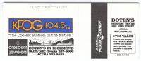 Bill Graham Presents Grateful Dead - Shoreline Amphitheatre - October 2, 1987