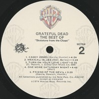 Grateful Dead. The best of. Skeletons from the Closet [album cover]