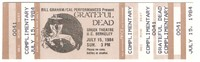 Bill Graham / Cal Performances Present Grateful Dead - July 15, 1984