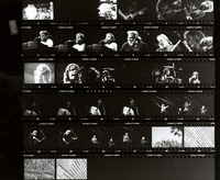 Grateful Dead, ca. 1980s: contact sheet with 32 images