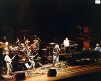 "Grateful Dead: Phil Lesh, Bill Kreutzmann, Bob Weir, Mickey Hart, Jerry Garcia, Vince Welnick, performing ""Promised Land"""