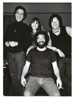 Jerry Garcia with three unidentified persons, ca. 1970s