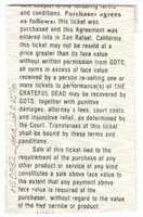Don Law Productions and John Scher present Grateful Dead - The Centrum - April 2, 1987
