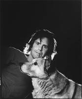 Bob Weir with Otis, the dog
