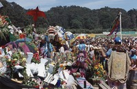 Memorial for Jerry Garcia: altar collection, with the Chinese New Year dragon