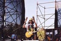 Santana: Carlos Santana, with Raul Rekow in the background