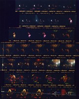 Grateful Dead at the Charlotte Coliseum: contact sheet with 33 images