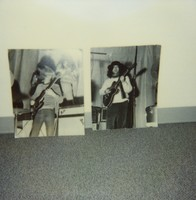 Grateful Dead: Phil Lesh and Jerry Garcia at the Santa Venetia Armory: photograph of two snapshots