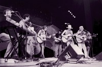 Bruce Hornsby, Rob Wasserman, Bob Weir, Mike Falzarano, Mark Ford, Arlo Guthrie, and Matthew Kelly during the Acoustic Jam