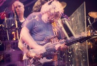 Grateful Dead: Bill Kreutzmann, Bob Weir, and Jerry Garcia: multiple exposure