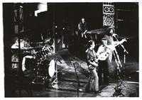 Grateful Dead: Keith Godchaux, Bob Weir, Donna Godchaux, and Jerry Garcia, with Bill Kreutzmann at left, obscured