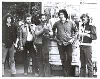 New Riders of the Purple Sage, April 1970: Dave Torbert, David Nelson, Mickey Hart, Jerry Garcia and John Dawson