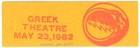 Bill Graham Presents at the Greek Theatre - May 23, 1982
