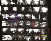 Grateful Dead at 710 Ashbury Street, party with the Charlatans and Jefferson Airplane: contact sheet with 36 images