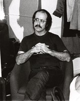 Robert Hunter backstage at Wolfgangs at a Dinosaurs concert