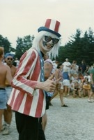 Deadhead in stars and stripes costume