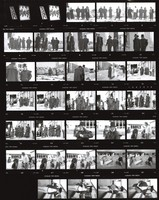 "Grateful Dead: ""Throwing Stones"" video shoot: contact sheet I of 34 images"