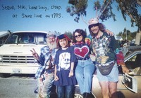 "Photographs and artwork - Steve ""Trash Captain"", Miki, Loose Lucy, Chap, Jerry Garcia"
