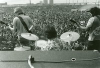 Grateful Dead: Phil Lesh, Bill Kreutzmann, and Jerry Garcia, from the back