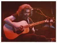Grateful Dead during an acoustic set: Jerry Garcia and Mickey Hart