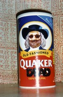 "Deadhead artwork: Ben Franklin's likeness on a Quaker Oats container altered in the manner of Jerry's face: thus ""Quaker Dead"", ca. 1980s"
