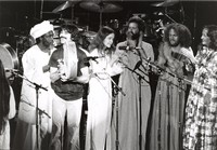 Mickey Hart, with Hamza El-Din and unidentified others