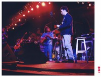 Other Ones: Alphonso Johnson, Mark Karan, and Steve Kimock, with Bill Kreutzmann and Mickey Hart in the background