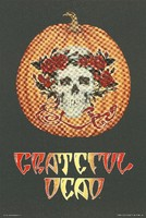 Grateful Dead [Halloween: skull and roses on a pumpkin]