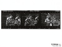 Phil Lesh, ca. 1989: contact sheet with 3 images