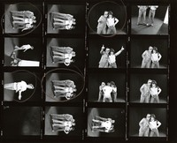 Bill Kreutzmann, Mickey Hart, and Phil Lesh: contact sheet with 15 images