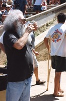 Memorial for Jerry Garcia: mourner resembling Jerry