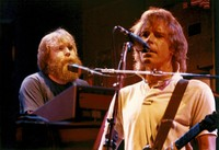 Grateful Dead: Brent Mydland and Bob Weir, in a double exposure