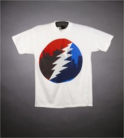 "T-shirt: Skyline, lightning bolt. Back: ""Chicago - Rosemont Horizon - GD - March 9, 10, 11, 1993"""