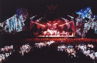 Grateful Dead, ca. 1990s: distant view of the stage