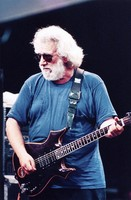 Jerry Garcia, with his guitar, Lightning Bolt, ca. 1994