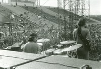 Grateful Dead: Mickey Hart and Bob Weir, from the back