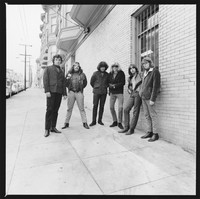 "Grateful Dead: Bill Kreutzmann, Ron ""Pigpen"" McKernan, Jerry Garcia, Phil Lesh, Bob Weir, and Jack Casady (of Jefferson Airplane)"