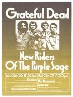 Grateful Dead / New Riders of the Purple Sage - Palestra, October 26 - Onondaga County War Memorial Auditorium, October 27 [1971]