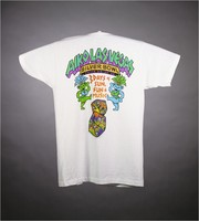 "T-shirt: ""Vegas Dead"" - coins. Back: ""Aiko Las Vegas / Silver Bowl June 24-25-26/ 3 Days of Sun, Fun and Music"" - coins, showgirl bears"