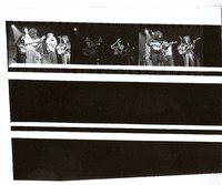 Unidentified musicians, ca. 1970s: contact sheet with 3 images