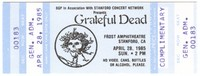 BGP in Association with Stanford Concert Network Presents Grateful Dead  - Frost Amphitheatre - April 28, 1985